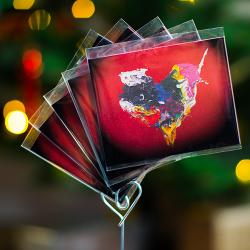 祝福卡片【活潑的心】一套5張